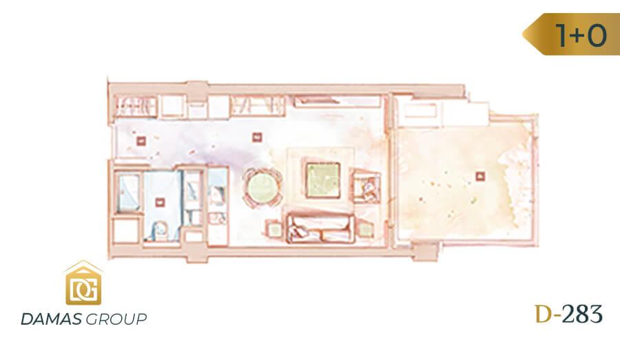 مجمع داماس 283 في اسطنبول  - صورة مخطط 01