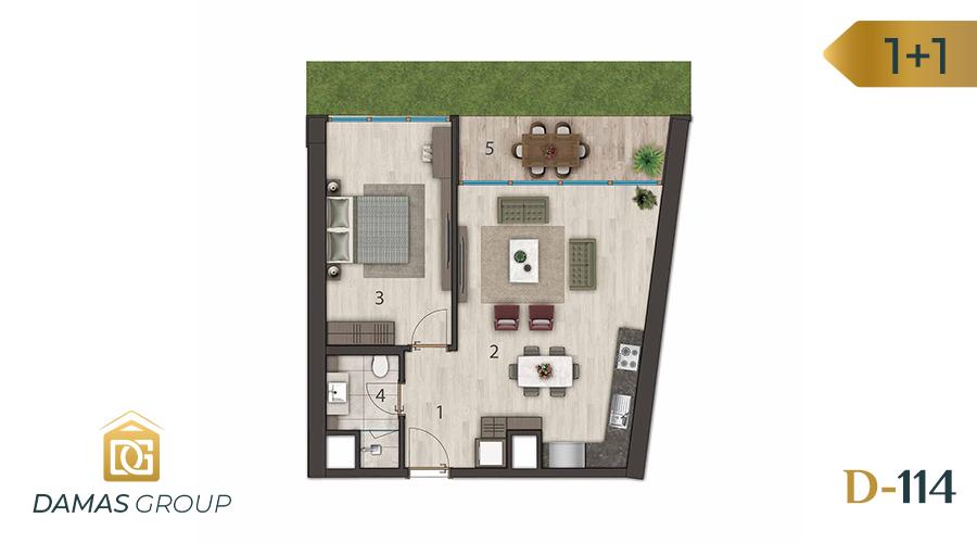 مجمع داماس 114 في اسطنبول  - صورة مخطط 01