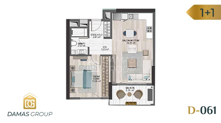 مجمع داماس 061 في اسطنبول  - صورة مخطط 01