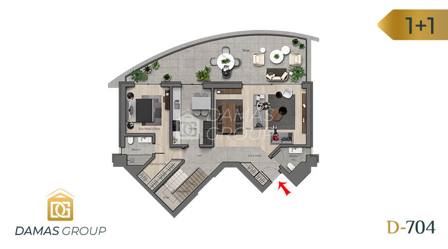 مجمع داماس 704 في أنقرة  - صورة مخطط 01