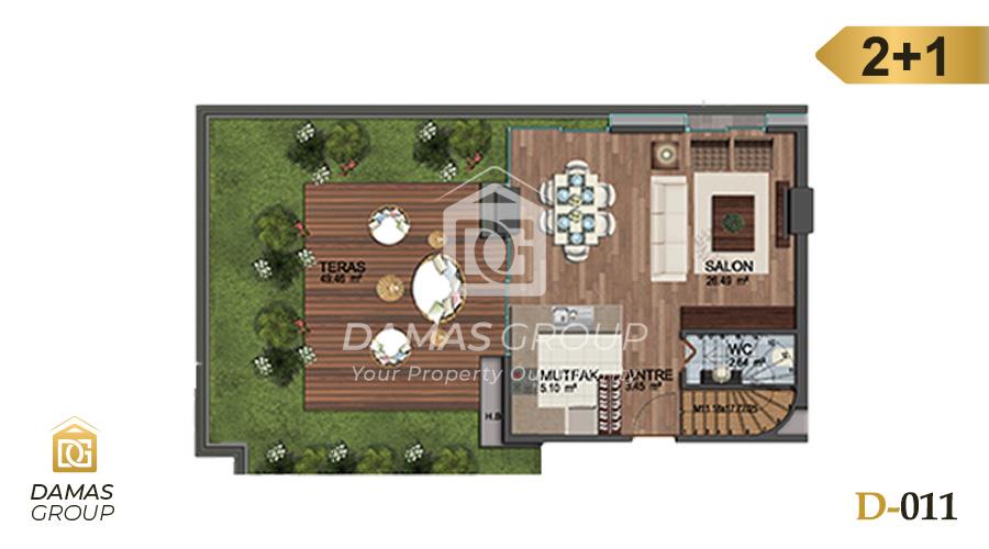مجمع داماس 011 في اسطنبول  - صورة مخطط 03