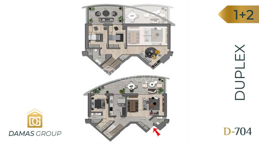 مجمع داماس 704 في أنقرة  - صورة مخطط 02
