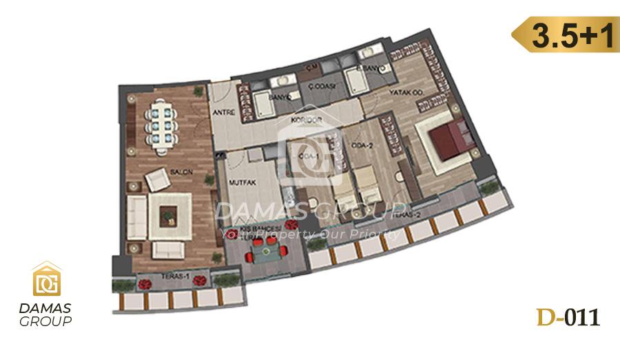 مجمع داماس 011 في اسطنبول  - صورة مخطط 04