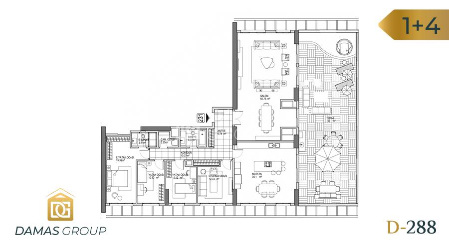 مجمع داماس 288 في اسطنبول  - صورة مخطط 04