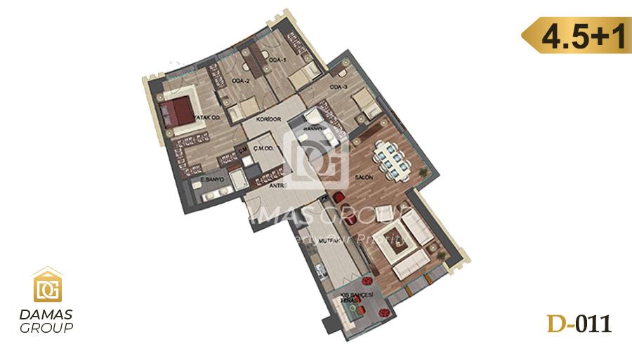 مجمع داماس 011 في اسطنبول  - صورة مخطط 05