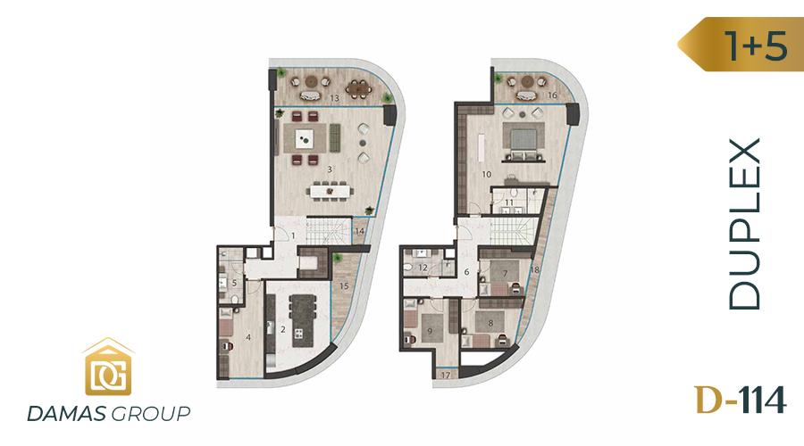 مجمع داماس 114 في اسطنبول  - صورة مخطط 05