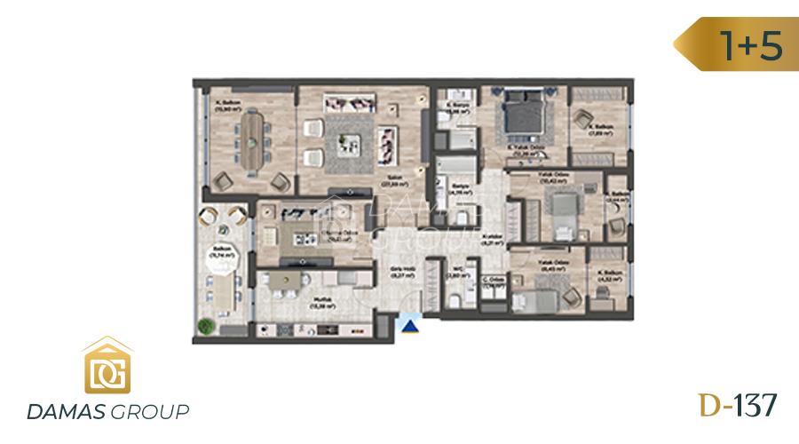 مجمع داماس 137 في اسطنبول  - صورة مخطط 06