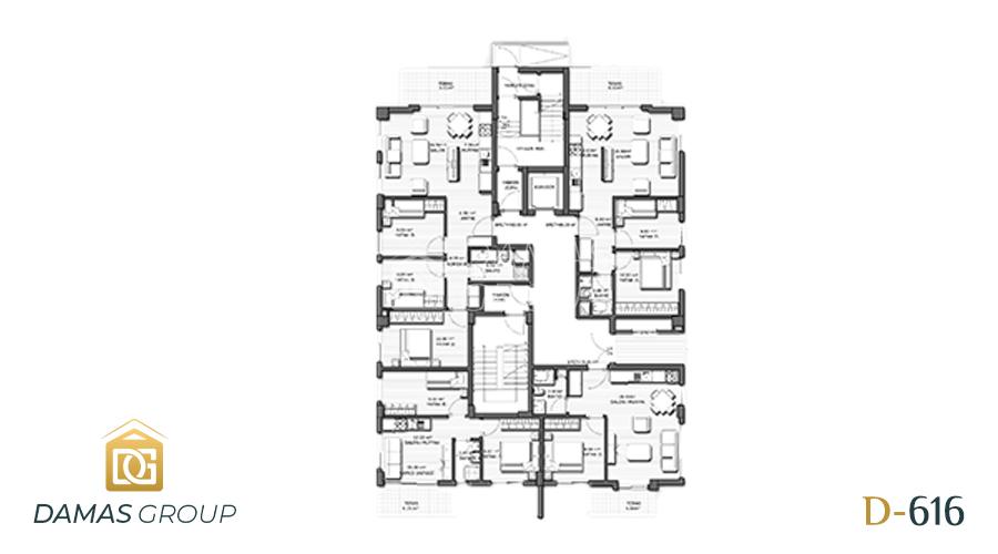 مجمع داماس 616 في انطاليا  - صورة  مخطط 01